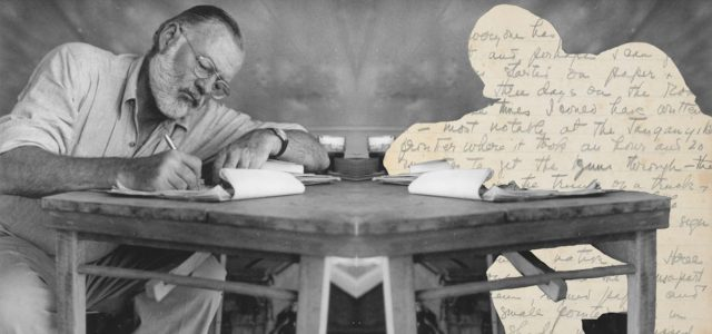 Ernest_Hemingway_Writing_at_Campsite_in_Kenya_-_NARA_-_192655-1240x644-1